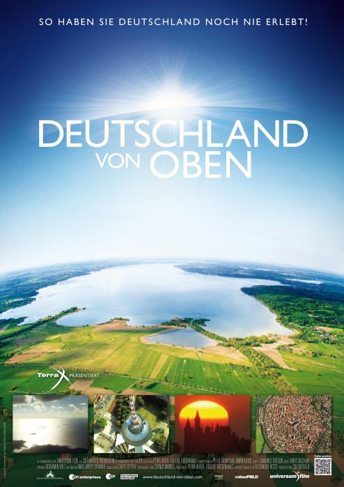 Deutschland von oben Plakat