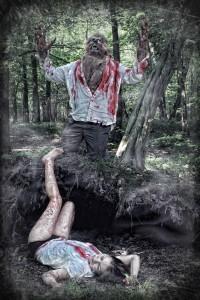 Axel als Wolfman bei einem Photoshoot (Quelle: FrightGuys)