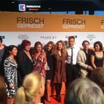 """Gruppenfoto vom """"Frisch gepresst""""- Cast auf dem orangen Teppich (Quelle: Rosanna Preller)"""