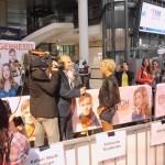 Jenny Elvers-Elbertzhagen gab zahlreiche Interviews (Quelle: Thomas Trierweiler)