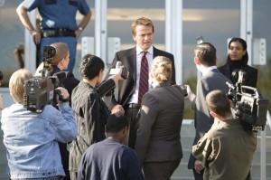 Greg Stillson aus einer Pressekonferenz (Quelle: Paramount Home Entertainment)