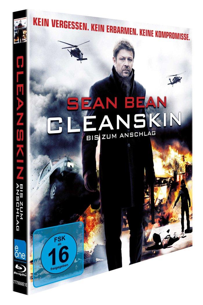 """Das Blu-Ray-Cover von """"Cleanskin im Pappschuber (Quelle: Entertainment One)"""
