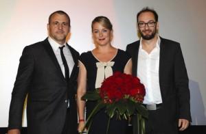 Patrick Huard, Julie LeBreton und Ken Scott bei der Premiere (Quelle: Ascot Elite)
