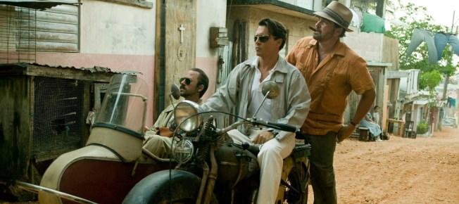Kemp mit Moberg und Sala im Motorrad (Quelle: Universum Film)