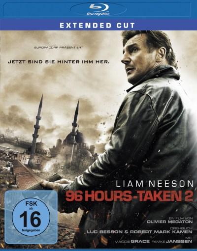 """Das Blu-ray-Cover von """"96 Hours - Taken 2"""" (Quelle: Universum Film)"""