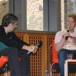 Harmony Korine mit Moderator Collins (Bild: Thomas Trierweiler)