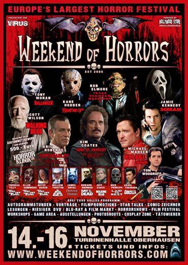 """Das """"Weekend of Horrors"""" Plakat für dieses Jahr (Quelle: Weekend of Horrors)"""