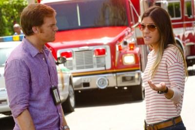 Debra und Dexter haben Probleme miteinander umzugehen (Quelle: Paramount Home Entertainment)
