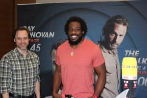 Daniel Thomas May und Travis Love vor dem Interview (Bild: Thomas Trierweiler)