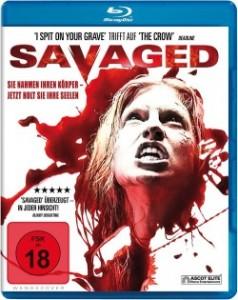 """Das Blu-ray-Cover von """"Savaged"""" (Quelle: Ascot Elite)"""