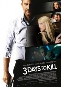 """Das Kinoplakat von """"3 Days to Kill"""" (Quelle: Universum Film)"""