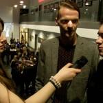 Aber auch die anderen Darsteller stellten sich unseren Fragen, wie Stefan Merten und André Decker (Quelle: LeinwandreporterTV)
