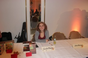 Auf der HobbitCon beantwortete sie geduldig alle Fragen von Fans und Presse (Foto: Thomas Trierweiler)