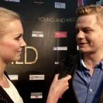 Marlene interviewt hier den Produzent und Darsteller Karsten Jaskiewicz (Quelle:LeinwandreporterTV)