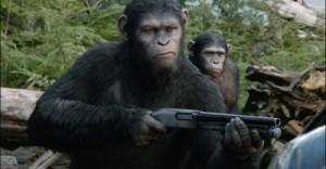 Auch die Affen können mit einem Gewehr umgehen (Quelle: 20th Century Fox)
