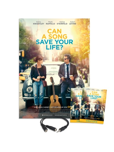"""Das Fan-Paket zu """"Can A Song Save Your Life"""" (Quelle: StudioCanal)"""