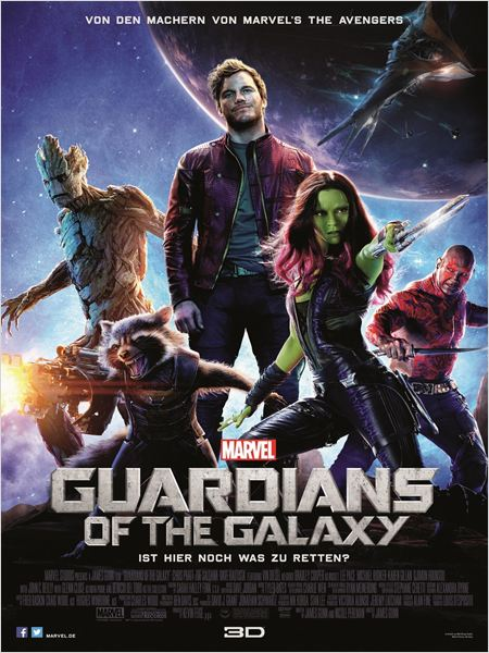 "Das Plakat von ""Guardians of the Galaxy"" (Quelle: Marvel Deutschland)"