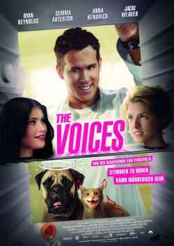 "Das Kinoplakat von ""The Voices"" (Quelle: Ascot Elite)"