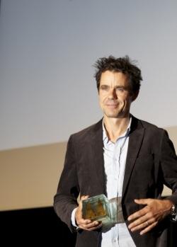 Tom Tykwer mit dem Hollywood Reporter Award (Quelle: Carolin Reinoldi)