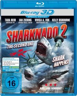 "Das 3D Blu-ray-Cover von ""Sharknado 2"" (Quelle: Indigo)"