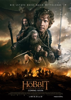 "Das Plakat von ""Der Hobbit: Die Schlacht der fünf Heere"" (©2014 METRO-GOLDWYN-MAYER PICTURES INC. AND WARNER BROS. ENTERTAINMENT INC. ALL RIGHTS RESERVED)"