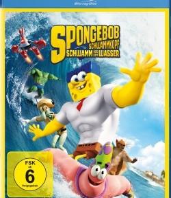 """Das Blu-ray-Cover von """"SpongeBob Schwammkopf Schwamm aus dem Wasser"""" (© Paramount Pictures Home Entertainment)"""
