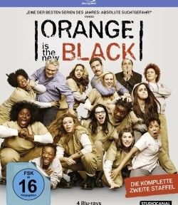 "Das Blu-ray-Cover der zweiten Staffel ""Orange Is the new Black"" (©StudioCanal)"