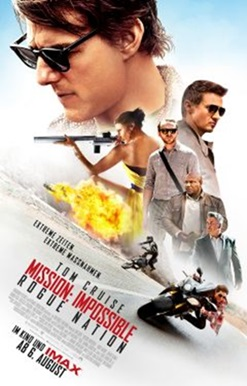 """Das Kino-Plakat von """"Mission Impossible -Rogue Nation"""" (© Paramount Pictures)"""