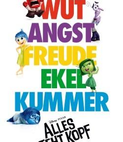 """Das Kino-Plakat von """"Alles steht Kopf"""" (© Walt Disney Pictures)"""