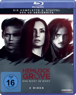 "Das Blu-ray-Cover der zweiten Staffel von ""Hemlock Grove"" (© Concorde Home Entertainment)"