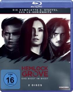 """Das Blu-ray-Cover der zweiten Staffel von """"Hemlock Grove"""" (© Concorde Home Entertainment)"""