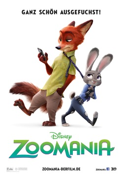 "Das Kino-Plakat von ""Zoomania"" (© Walt Disney Motion Pictures Germany)"