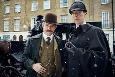 Holmes und Watson in ungewohntem Aufzug (© Polyband)