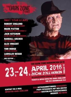 Das Poster von The Dark Zone Horrorcon (© The Dark Zone)