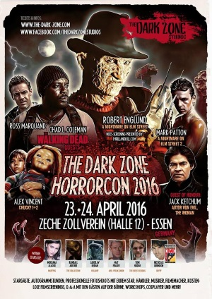 "Das offizielle Plakat zur ""The Dark Zone Horrorcon"" (© The Dark Zone)"