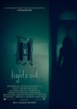 """Das Kino-Plakat von """"Lights Out"""" (© Warner Bros Pictures)"""