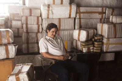 Escobar und sein Vorzeige-Produkt (© Polyband)