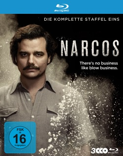 """Das Blu-ray-Cover der ersten Staffel von """"Narcos"""" (© Polyband)"""