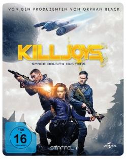 """Das Blu-ray-Cover der ersten Staffel von """"Killjoys"""" (© Pandastorm Pictures)"""