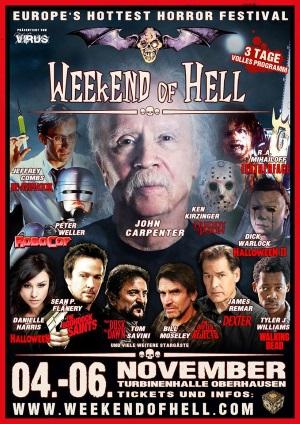 """Das Plakat vom """"Weekend of Hell"""" (© Weekend of Hell)"""