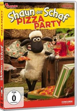 "Das DVD-Cover von ""Shaun das Schaf - Pizza Party"" (© Concorde Home Entertainment)"