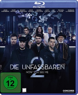 "Das Blu-ray-Cover von ""Die Unfassbaren - Now You See Me 2"" (© Concorde Home Entertainment)"