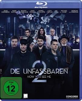 """Das Blu-ray-Cover von """"Die Unfassbaren - Now You See Me 2"""" (© Concorde Home Entertainment)"""