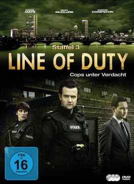 "Das DVD-Cover der dritten Staffel von ""Line of Duty"" (© justbridge entertainment)"