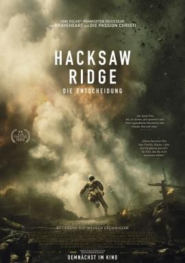 """Das Hauptplakat von """"Hacksaw Ridge - Die Entscheidung"""" (© Universum Film)"""