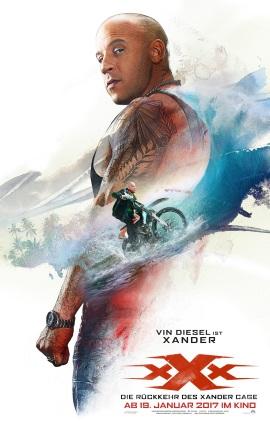 """Das Kinoplakat von """"xXx: Rückkehr des Xander Cage"""" (© Paramount Pictures Germany)"""