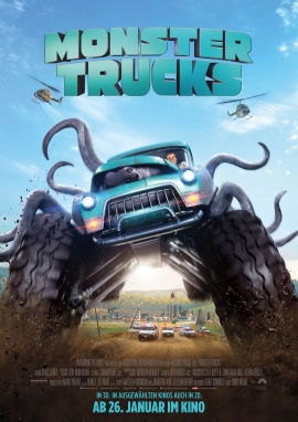"Das Kino-Plakat von ""Monster Trucks"" (© Paramount Pictures Germany)"