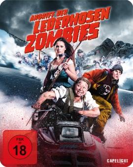 """Das Blu-ray-Cover von """"Die Attacke der Lederhosenzombies"""" (© Capelight Pictures)"""