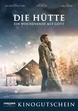 """Ein Kino-Gutschein für """"Die Hütte - Ein Wochenende mit Gott"""" (© Concorde Filmverleih)"""