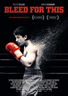 "Das Hauptplakat von ""Bleed For This"" (© 2017 Sony Pictures Releasing GmbH)"